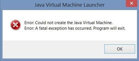 "Устраняем ошибку ""Could not create the Java virtual machine"""